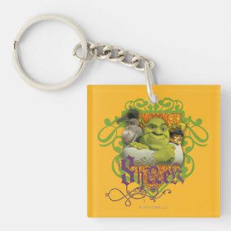 Shrek Group Crest Key Ring