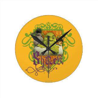 Shrek Group Crest Round Clock
