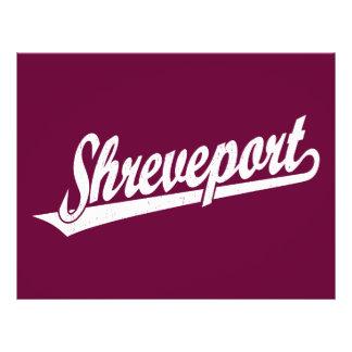 Shreveport script logo in white distressed 21.5 cm x 28 cm flyer