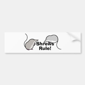 Shrews Rule Bumper Stickers