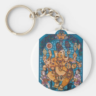Shri Ganesh Basic Round Button Key Ring