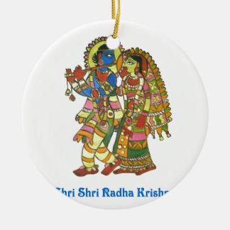 Shri Shri Radha Krishna Christmas Ornament