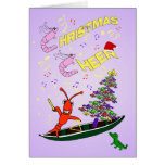 Shrimp and Crawfish Cajun Christmas Cheer Cards