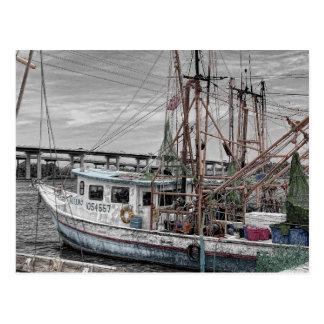 Shrimp Boat at Harbor Postcard