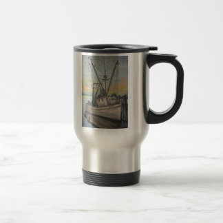 Shrimp Boat Painting Travel Mug