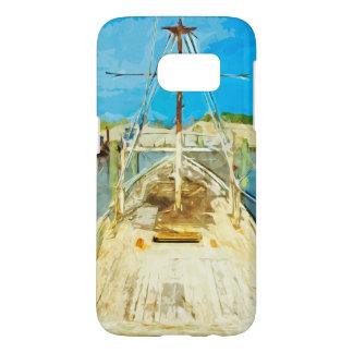 Shrimp Boat Under Repair Abstract Impressionism