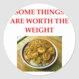shrimp gumbo round sticker