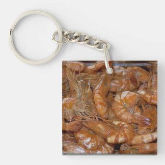 Shrimp Single-Sided Square Acrylic Key Ring