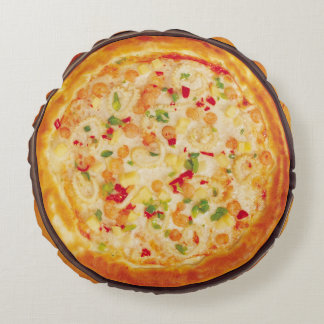 Shrimp Pizza Round Cushion