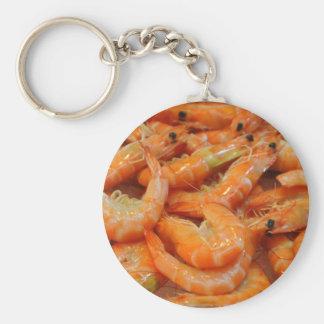Shrimp Prawns Basic Round Button Key Ring