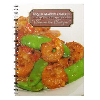 Shrimps Stir-Fry Decorative Modern Food Notebook
