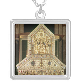 Shrine Containing the Relics Silver Plated Necklace