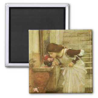 Shrine JW Waterhouse Vintage Victorian Portrait Magnet