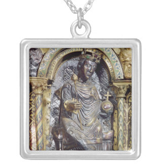 Shrine of Emperor Charlemagne Silver Plated Necklace