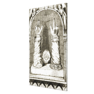 Shrine of St. Patrick's hand, from 'The Trias Thua Canvas Print