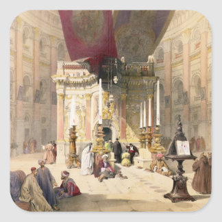 Shrine of the Holy Sepulchre, April 10th 1839, pla Square Sticker