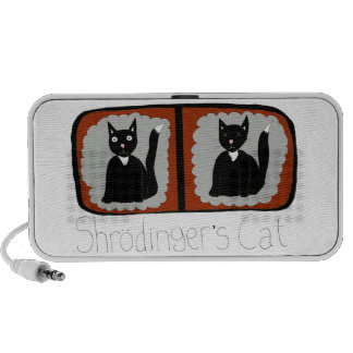 Shrodinger Cat Science Cartoon iPhone Speaker