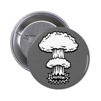 SHROOM! -b/w 6 Cm Round Badge