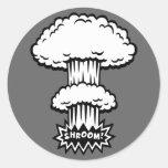 SHROOM! -b/w Round Sticker