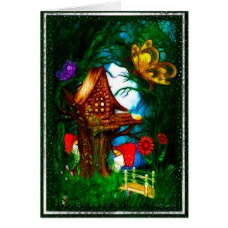 Shroom Valley Fantasy Art BLANK Stationary Note Card
