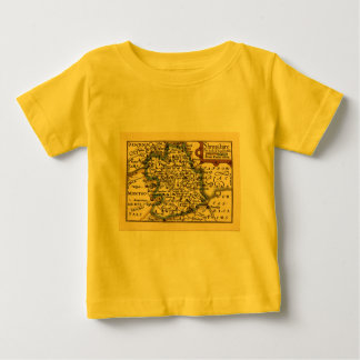Shropshire County Map, England Baby T-Shirt