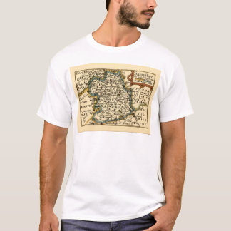 Shropshire County Map, England T-Shirt