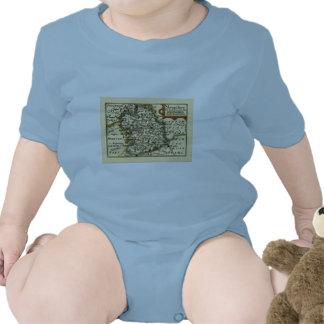 Shropshire County Map, England Tshirt