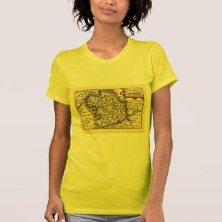 Shropshire County Map, England Tshirts