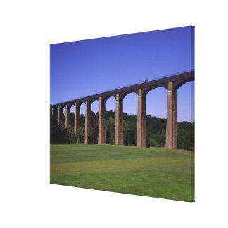 Shropshire Union Canal Aqueduct, Pont Cysyllte, Stretched Canvas Prints