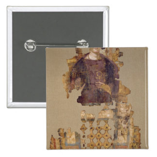 Shroud depicting a woman holding an ankh 15 cm square badge