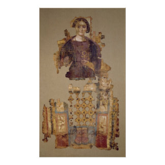 Shroud depicting a woman holding an ankh poster