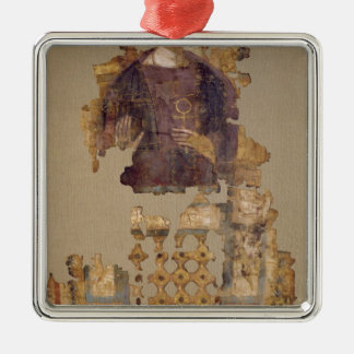 Shroud depicting a woman holding an ankh Silver-Colored square decoration