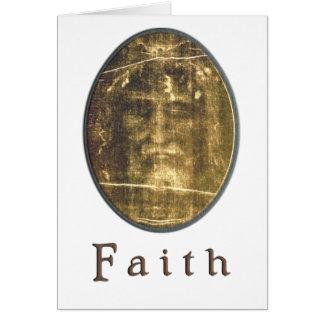Shroud of turin art greeting card