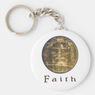 Shroud of turin designs basic round button key ring