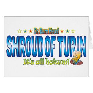 Shroud of Turin Dr. B Head Greeting Card