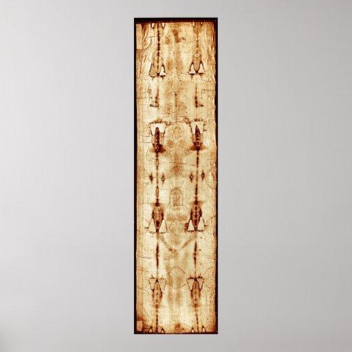 Shroud of Turin, ENHANCED, full image Jesus Christ Print