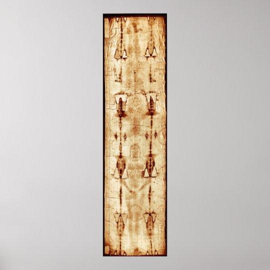 Shroud of Turin, ENHANCED, full image Jesus Christ