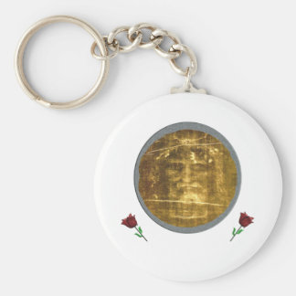 Shroud of turin gifts basic round button key ring