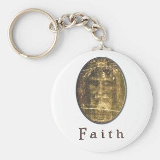 Shroud of Turin items Basic Round Button Key Ring