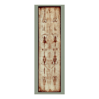 Shroud of Turin Jesus Christ Burial Cloth Poster