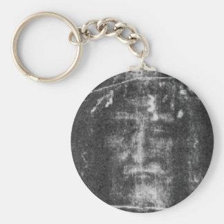 Shroud Of Turin Basic Round Button Key Ring