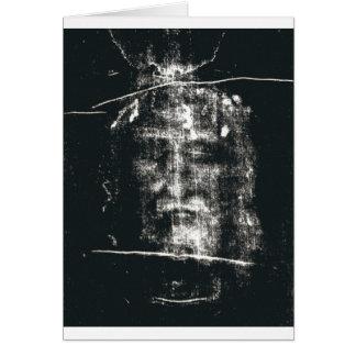 Shroud Of Turin, Negative Greeting Card