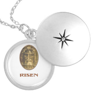 Shroud of turin products round locket necklace