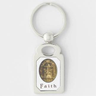 Shroud of Turin products Silver-Colored Rectangle Key Ring