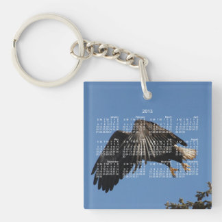 Shrouded by Wings; 2013 Calendar Single-Sided Square Acrylic Key Ring