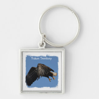 Shrouded by Wings; Yukon Territory Souvenir Keychains