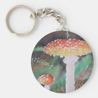 Shrouded Moss Basic Round Button Key Ring