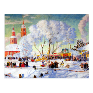 """Shrovetide"" by Boris Kustodiev,Fine Art Postcard"