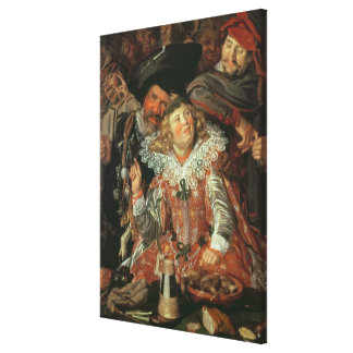 Shrovetide Revellers (The Merry Company) c.1615 (o Canvas Print