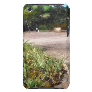 Shrubs and road barely there iPod covers